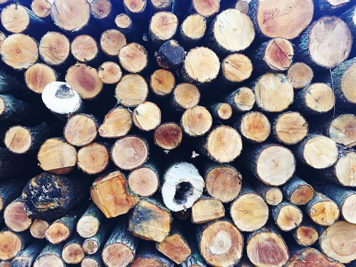 Full Frame Of Logs