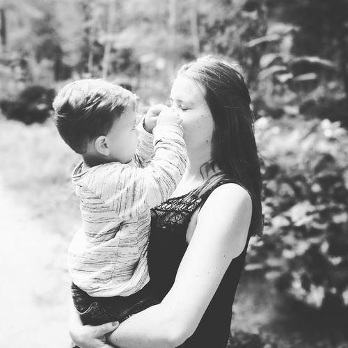 Mother&son Love Bonding Togetherness Embracing Affectionate Smiling Child Nature