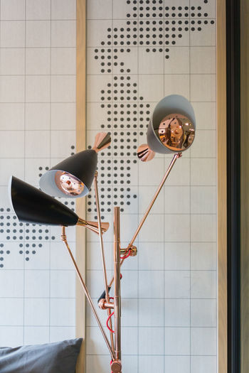 Lighting equipment against wall