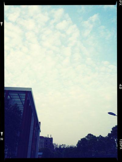 今天天空好蓝哦?