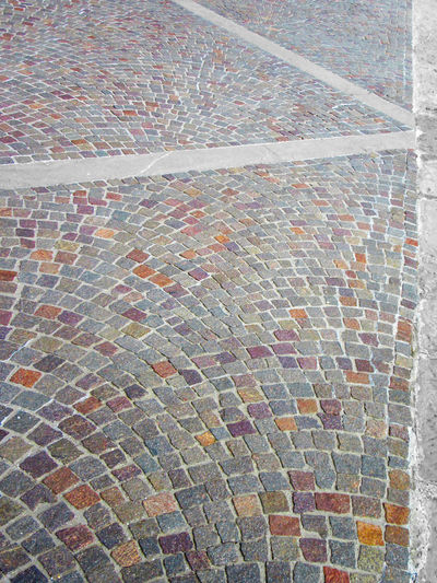 Sampietrini stone pavement Backgrounds Close-up Day Diagonal Footpath Full Frame High Angle View Lines Multi Colored No People Oblique Outdoors Pathway Pattern Pavement Sampietrini Sampietrino Sampietrino Romano Stone Textured