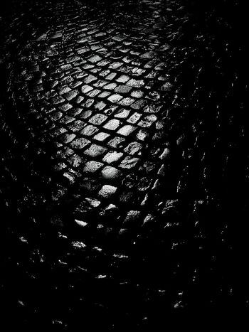 Cobblestones. Full Frame Low Angle View No People Pattern Night Backgrounds Textured  Indoors  Nature Close-up