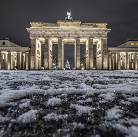 Architecture Cold Temperature Night Travel Destinations Berlin Germany Travel The Week On EyeEm Illuminated Berliner Ansichten Berlin, Germany  Cityscape Photography Connected By Travel Berlin, Germany  Cityscape Berlin Mitte Long Exposure Snow ❄ Brandenburg Gate Shades Of Winter
