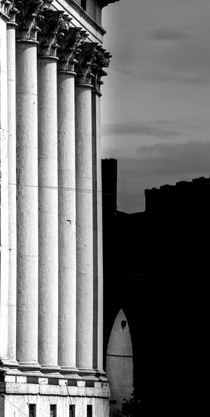 Architecture Built Structure Building Exterior Sky Architectural Column No People Nature Day Outdoors History The Past Building Travel Destinations Low Angle View Old Cloud - Sky City Colonnade Industry Concrete