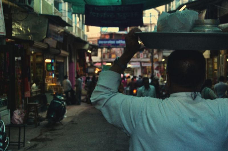 Street Streetphotography Pilgrimage Crowd Men Rear View