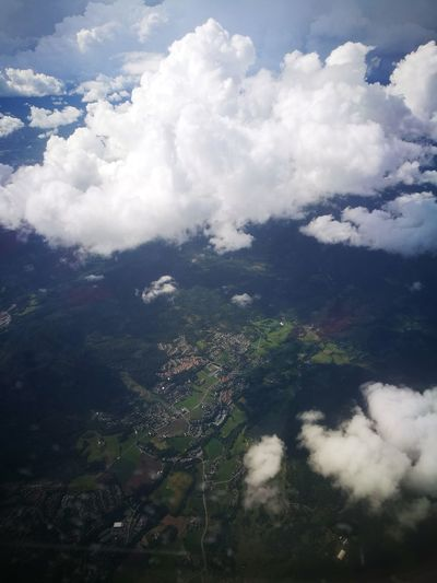 Cloud - Sky Scenics Landscape Forest Nature Beauty In Nature Mountain No People Tranquility Aerial View Airplane Flying Travel Destinations Looking Through Window Norway The Week On Eyem The Week On EyeEm