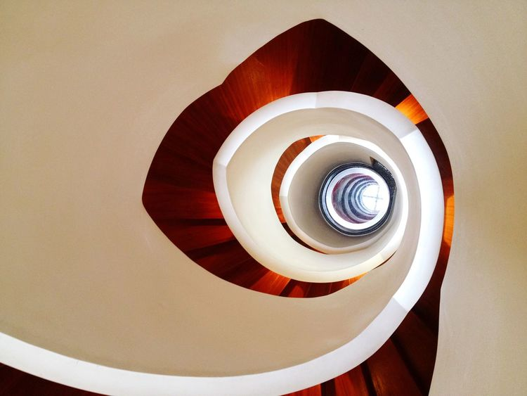 Architecture Stairs Indoors  Circle Spiral Staircase Interior Design Spiral Domestic Life Color Feature Empty