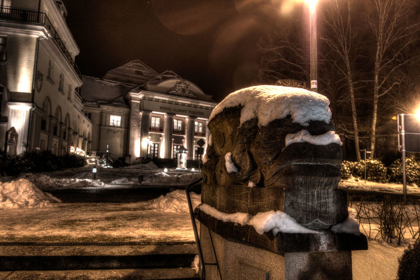 Architecture Art And Craft Bad Elster City Illuminated Night Old Town Outdoors Sculpture Statue Street Tourism Travel Destinations