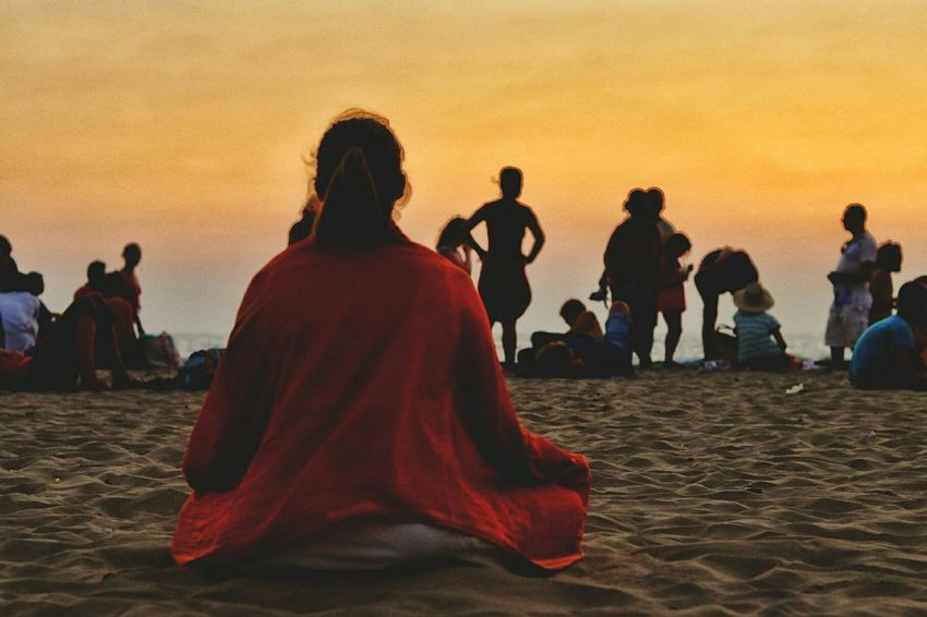 Sunset Full Length Spirituality Travel Red Sitting Religion People Traditional Clothing Arts Culture And Entertainment Archival Large Group Of People Performance Women Cultures Adult Real People Sand Zen-like Adults Only Ironeyephotography Travel Destinations Yoga Pose Yogagirl