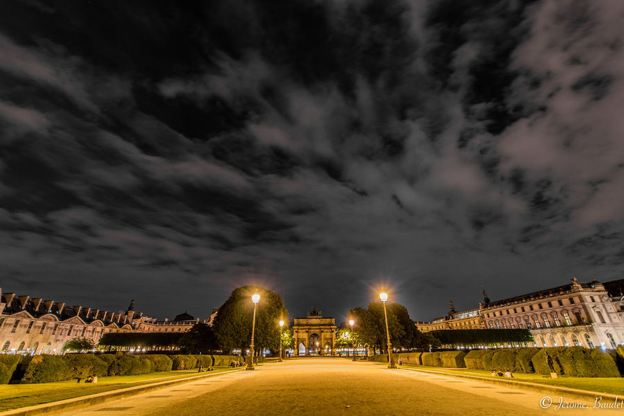 Louvre Paris Paris, France  Architecture City Cloud - Sky Louvremuseum Museum Night Sky Street Street Light