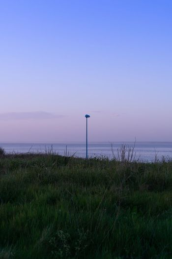Brittany Bretagne Minimalism Minimal Lamp Water Sky Scenics - Nature Sea Beauty In Nature Tranquility Land Tranquil Scene Grass Nature Horizon Horizon Over Water No People Clear Sky Outdoors The Great Outdoors - 2018 EyeEm Awards