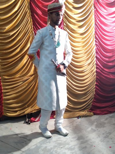 Full length of man standing in temple