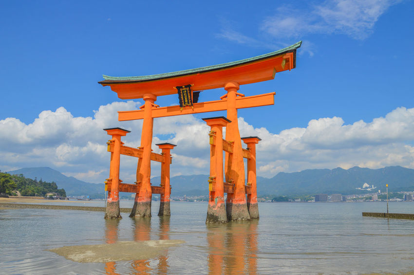 The Tori From Itsukushima Shrine At Miyajima Japan Gate Itsukushima Shrine Japan Japanese  Miyajima Island Itsukushima Miyajima Island Ocean Religion Sea Shinto Shintoism Tori