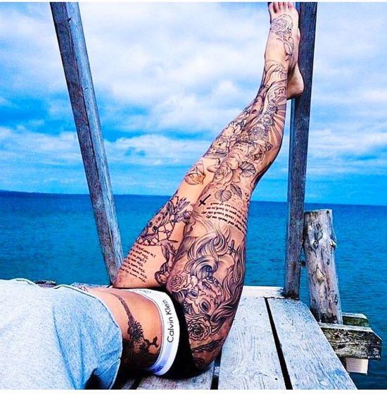 Jambes Tattoos Sexy Legs Sexy Girl
