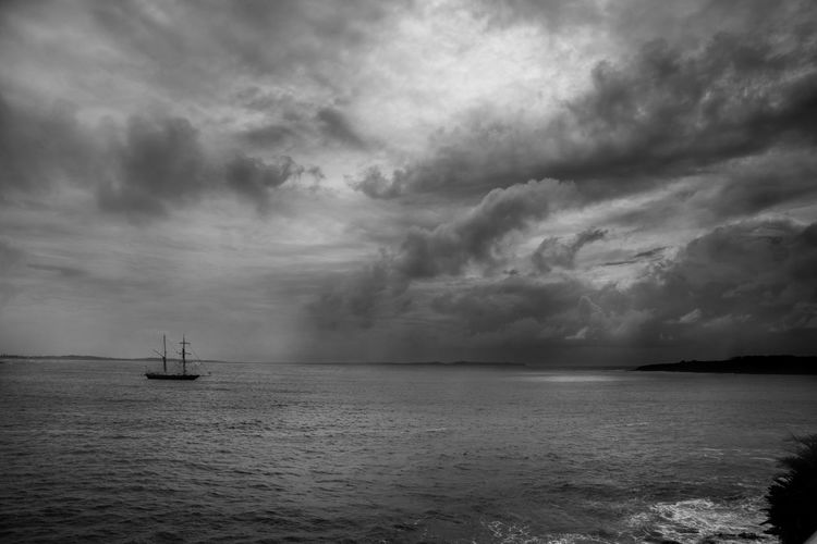 Nautical Vessel Transportation Sea Sailing Sky Cloud - Sky Mode Of Transport No People Waterfront Water Nature Day Outdoors Storm Cloud