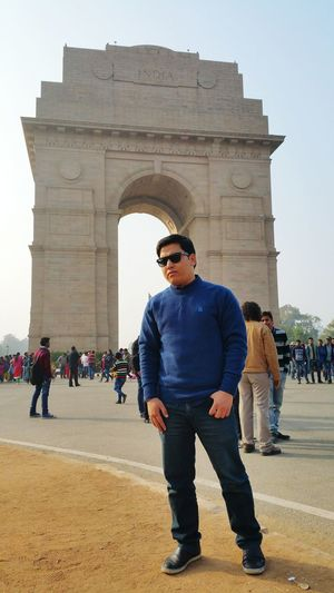 That's me ;) Indiagate Newdelhi -- Historical Building Incredible India IndiaTravelDiaries January 2015