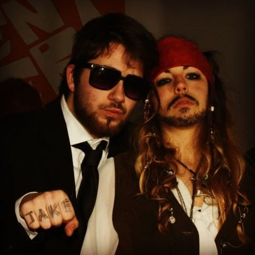 Show Us Your Mo By Movember carnival party, That's Me in the right, Jack Sparrow look for the party! Johnny Depp Captain Jack Sparrow