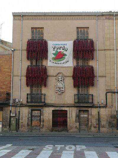 Pimientos secos en Lodosa Navarra España Architecture Built Structure Building Exterior Façade Outdoors Day No People Lost In The Landscape Connected By Travel EyeEmNewHere