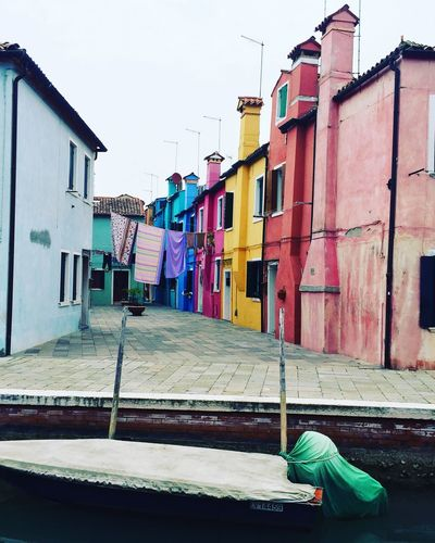 Burano Burano, Italy Venezia House Colors Architecture Building Exterior Lifestyles Vista Mare Isola Boats Magic Moments Mode Of Transport Marzo2017 Canal Millennial Pink