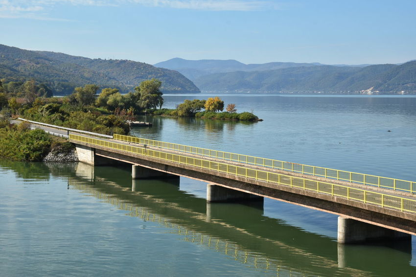 Danube river, Serbia Water Mountain Sky Scenics - Nature Beauty In Nature Nature Reflection Day Tranquil Scene Tranquility Plant Tree No People Outdoors River Bridge