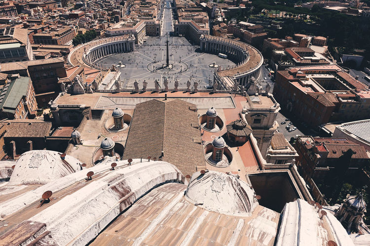 High angle view of st peters square