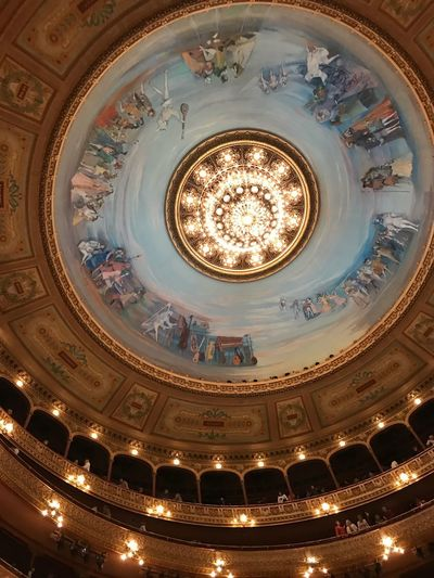 Soldi Teatro Colon Cellularphotography Soldi Painted Ceiling Painting Buenos Aires Teatro Colon  Colon Theater Low Angle View Architecture Illuminated Dome Ceiling Built Structure Indoors