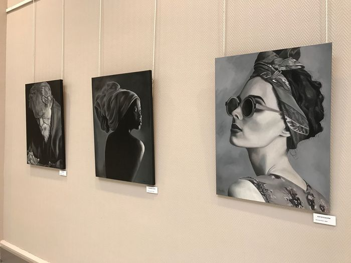 EyeEm Selects Female Likeness Human Representation Taking Photos IPhone 7 Plus Pictures Blackandwhite Enjoying Life Arte