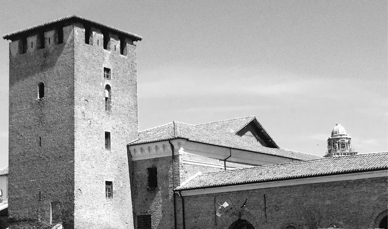 Architecture Black And White Blackandwhite Building Exterior Built Structure Clear Sky Culture Exterior Historic History House Italien Italy Low Angle View Mantova Mantua No People Old Outdoors Roof Tower Town Wall