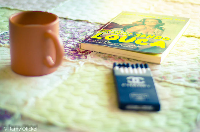 Bed Book Chanel Close-up Coffee Could  Day Focus On Foreground Green Color Information My Best Photo 2016 No People Pindamonhangaba Read Selective Focus Still Life Text
