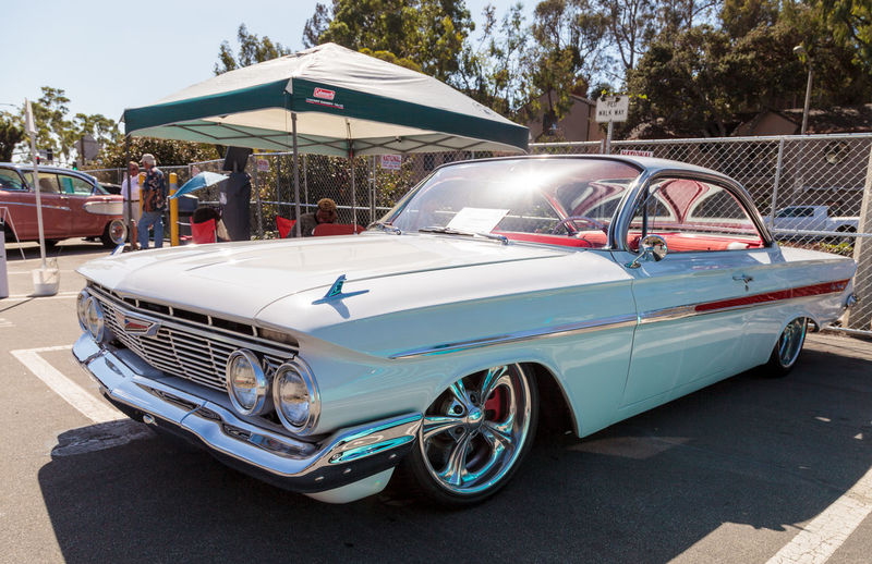 Laguna Beach, CA, USA - October 2, 2016: White 1961 Chevrolet Impala owned by Mouhamad Alsudairy and displayed at the Rotary Club of Laguna Beach 2016 Classic Car Show. Editorial use. Chevrolet 1961 Car Car Show CHEVROLET IMPALA Classic Car Classic Car Show Day Impala Laguna Beach Muscle Car No People Old Car Outdoors Transportation Vintage Car