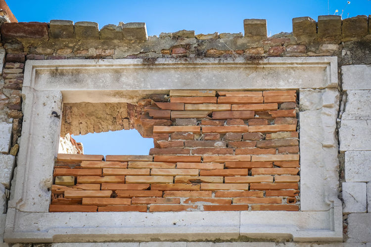 Architecture Built Structure History Damaged The Past Old Ruin Bad Condition Low Angle View Tourism Building Exterior Wall Ancient Travel Destinations No People Brick Old Day Abandoned Broken Sky Ruined Ancient Civilization Deterioration Outdoors Archaeology