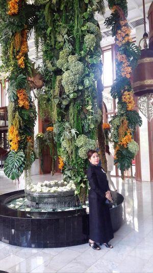 Flowers decorate Hotel Lobby Mandarinbangkokhotel