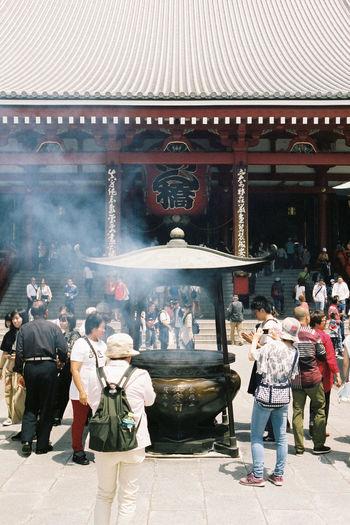 Sensō-ji on film 35mm Film Tokyo Street Photography Tokyo,Japan Asakusa Buddhist Temple Film Photography Fuji400h Group Of People Place Of Worship Religion Sensoji Temple  Spirituality Temple