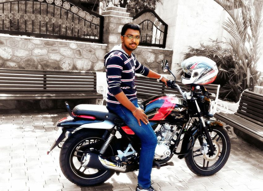 """My new Ride....... """"Bajaj V15""""....... 😀😎 Bike New Motorcycles Ride Taking Photos Check This Out Hanging Out That's Me Hello World Enjoying Life Traveling Indian Self Portrait Bikes Feeling Happy Ride A Bike  Tadda Community"""