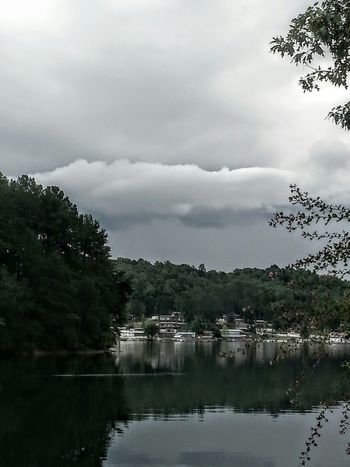 Stormy Weather Storm Clouds Lake View Time To Go Home Fishing Time Rain Is Coming