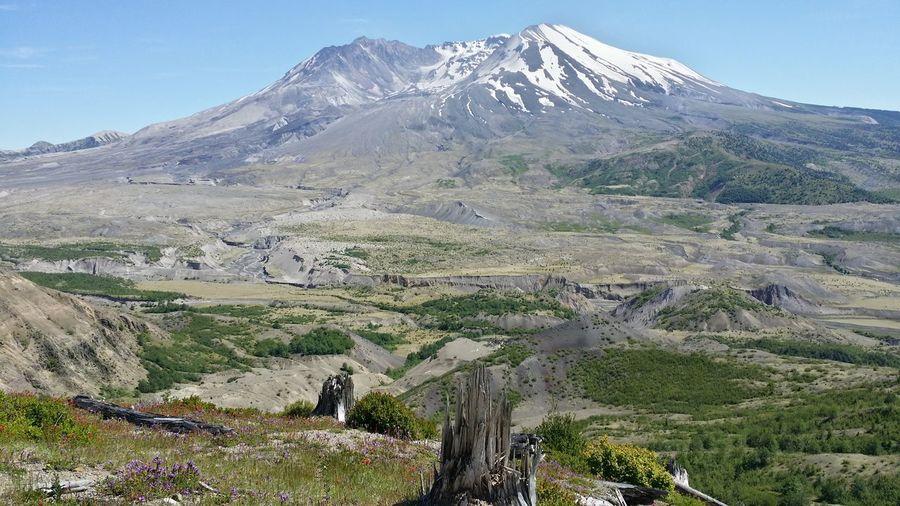 Mt. St. Helens  Washington State Mountain View Volcano