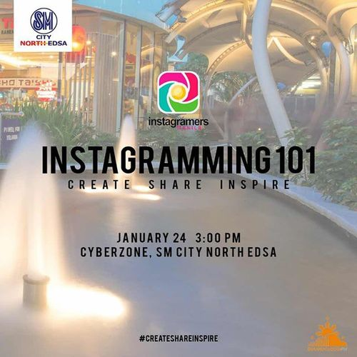"""ANNEXxIGersManila CreateShareInspire @IGersManila partners with SM North EDSA tobring you Instagramming 101:CreateShareInspireInstameetatSM North EDSA Cyberzone on 24-Jan-2015 from 3pm to 6pm. During this instameet, Themods shall talk about@IGersManila's instagram'ing workflow. Along with this, our friends from @SoundCloudPH shall also be thereand perform for us during the event. Join us by clicking """"Register"""" on our eventbrite page: http://bit.ly/createshareinspire Have questions or suggestions? Follow and tag @IGersManila TheMods @CCLozano @EdCalaycay @iPetim @Pinkipop27 @IGersPhilippines. Keep the good vibes rolling ktgvr in Instagram!"""