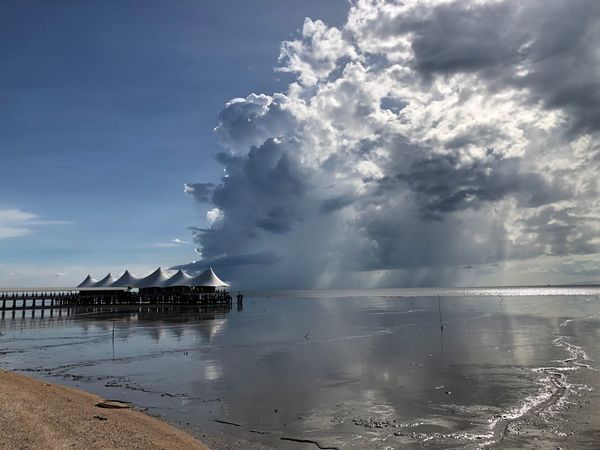 Awesome Water Cloud - Sky Sky Sea Beauty In Nature Scenics - Nature Beach
