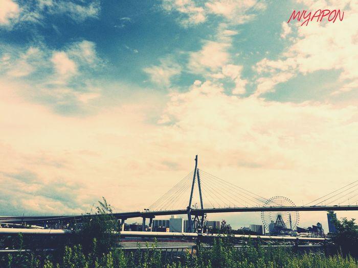 風景を撮る時はやはり広角がいい感じです❗️広角レンズが欲しい^o^ Oosaka  Holiday Sky