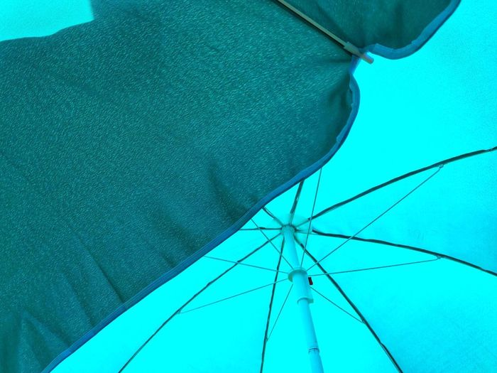 Shade Summer Sun Parasol Blue No People Nature Day Umbrella Low Angle View Close-up Protection Outdoors Turquoise Colored