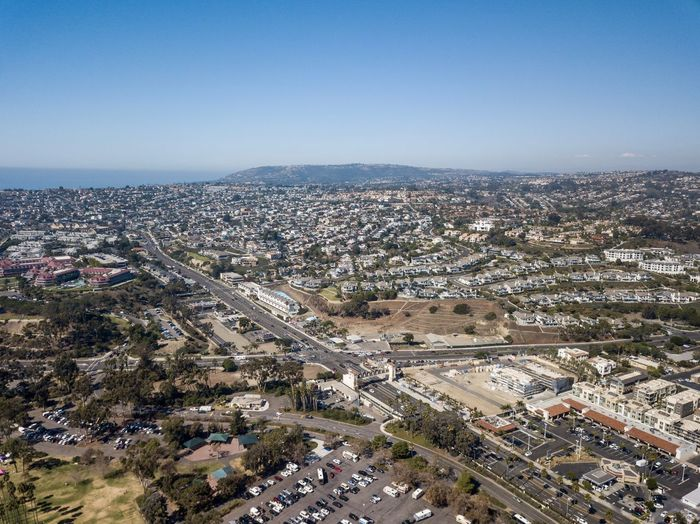 aerial landscape view of Dana Point California City Transportation Architecture Road Built Structure High Angle View Building Exterior Sky Aerial View Cityscape Nature Day Outdoors Drone View Orange County, Ca Southern California Dronephotography Dana Point, Ca