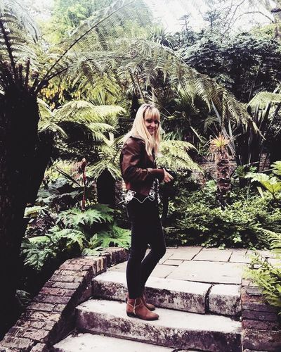Young Adult Full Length Young Women Blond Hair One Person Beautiful Woman Plant Real People Casual Clothing Outdoors Standing Leisure Activity Day Tree Lifestyles Nature Adult Adults Only People Kyotogardenslondon Park - Man Made Space Iphonephotography IPhone