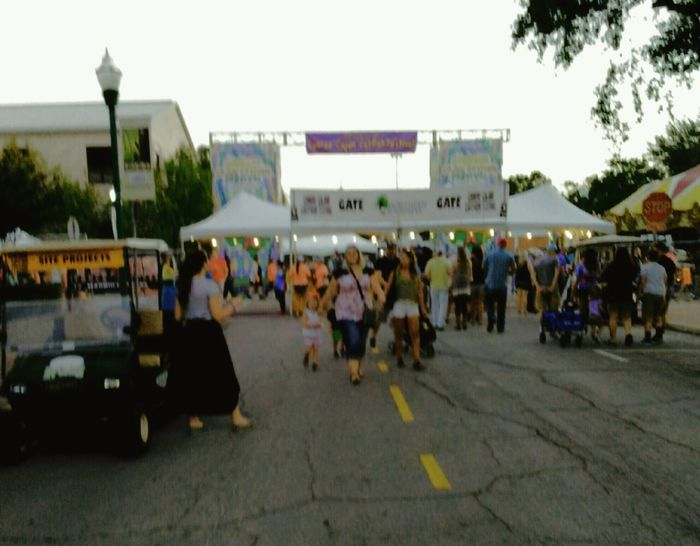 Cajun Catfish Festival Conroe, Texas... Having lots of fun.... People Politics Adult Protestor Adults Only Outdoors City