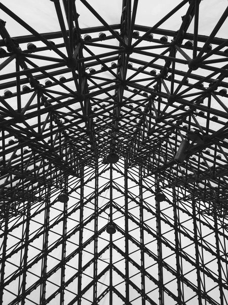 Modern Architecture at Window of the World Pyramid in Shenzhen - China Architectural Detail Modern Architecture Lattice Pattern Shenzhen Building Interior Window Of The World  Chinese Architecture Inside Abstract Pyramids Pyramid Architecture Chinese Pattern China Black And White Monochrome Architectural