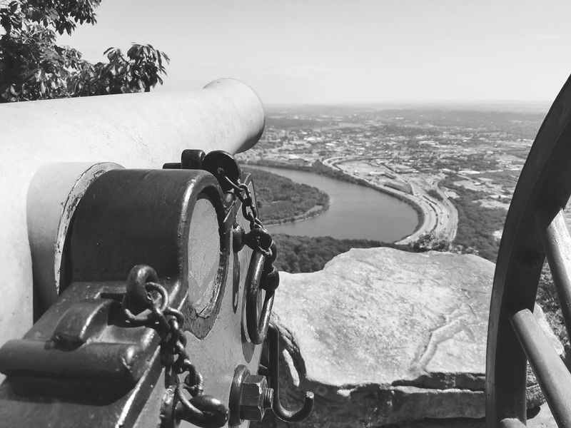 Canon Civil War Lookout Mountain View From Above Black And White