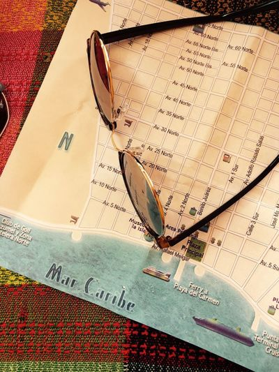 City Map Cozumel Mexico Travel Travel Photography Traveling Close-up Communication Map No People Paper South America Still Life Sunglasses Text Travel Two Objects This Is Latin America The Still Life Photographer - 2018 EyeEm Awards