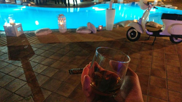 Italia Cigar Havana Rum Wedding Photography Swimming Pool Vespavintage
