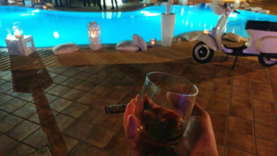 Italia Cigar Havana Rum Wedding Photography Swimming Pool Vespavintage