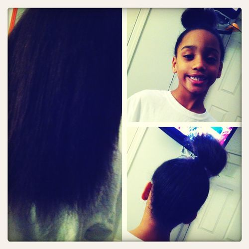 She Wanted Me To Straighten Her Hair (:
