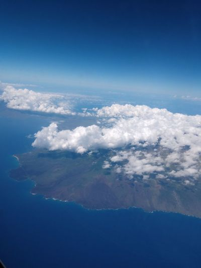 island of Maui, Hawaii EyeEm Selects Water Airplane Planet Earth Sea Blue Mountain Aerial View Business Finance And Industry Beauty City Plane Cumulonimbus Stratosphere Fluffy Wispy Cloudscape Fly Cumulus Cloud Island Calm The Great Outdoors - 2018 EyeEm Awards